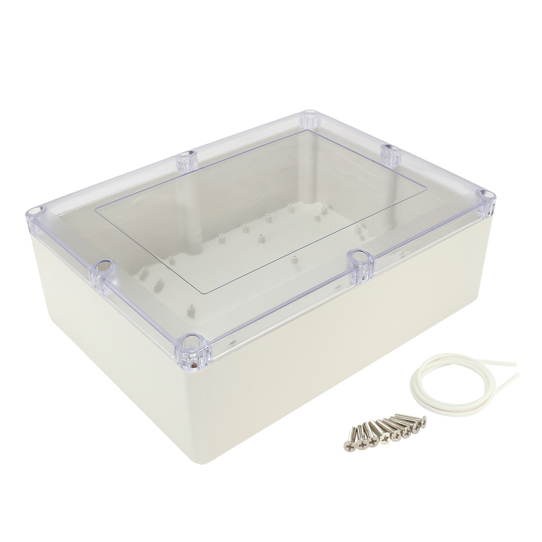 """12.6""""x9.5""""x4.3""""(320mmx240mmx110mm) ABS Junction Box Universal Project Enclosure w PC Transparent Cover"""