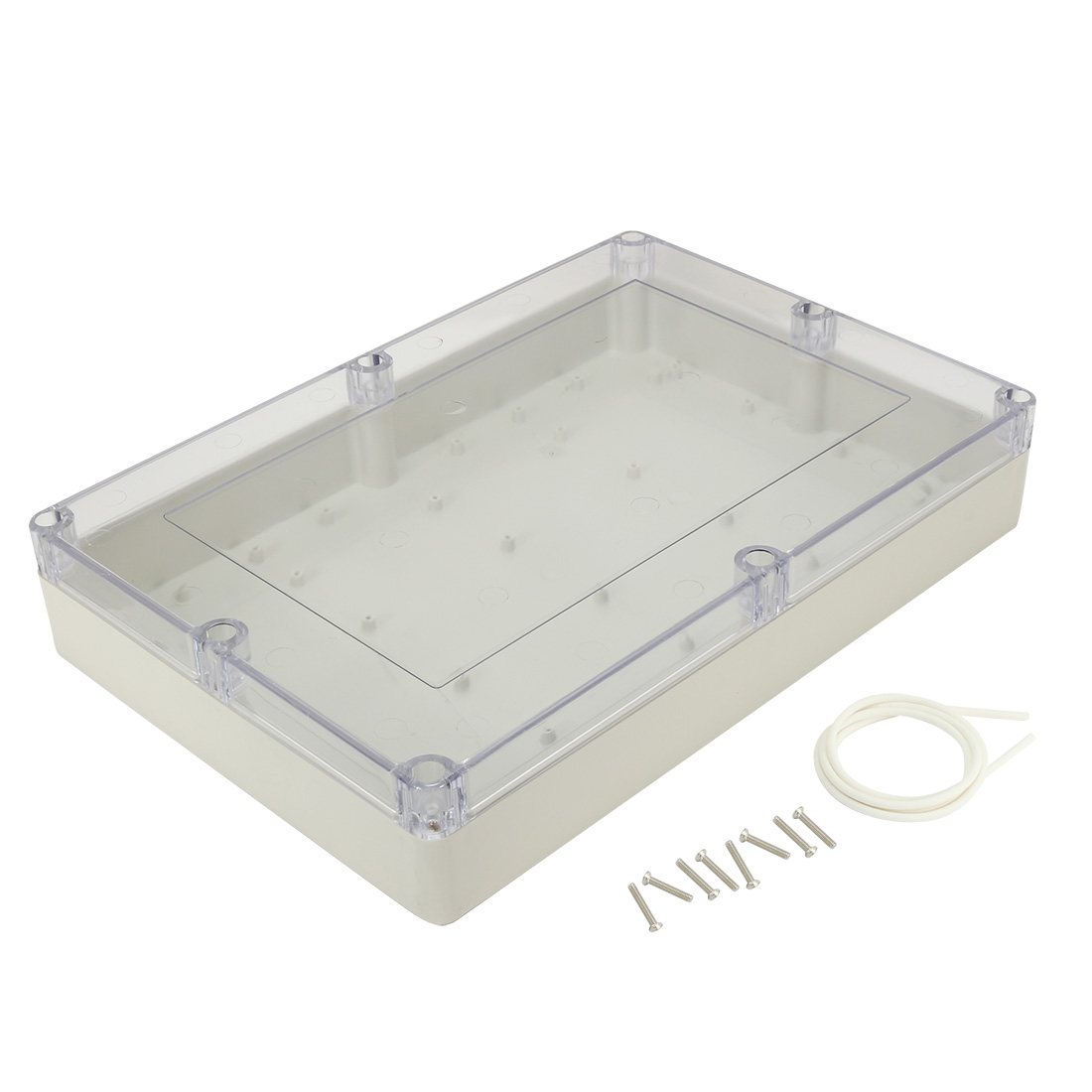 "15""x10.2""x3.35""(380mmx260mmx85mm) ABS Junction Box Universal Electric Project Enclosure Clear"