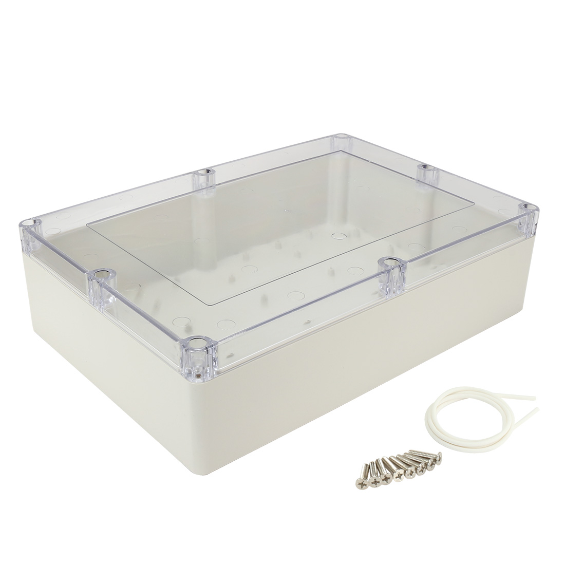 """15""""x10.2""""x4.1""""(380mmx260mmx105mm) ABS Junction Box Universal Project Enclosure w PC Transparent Cover"""