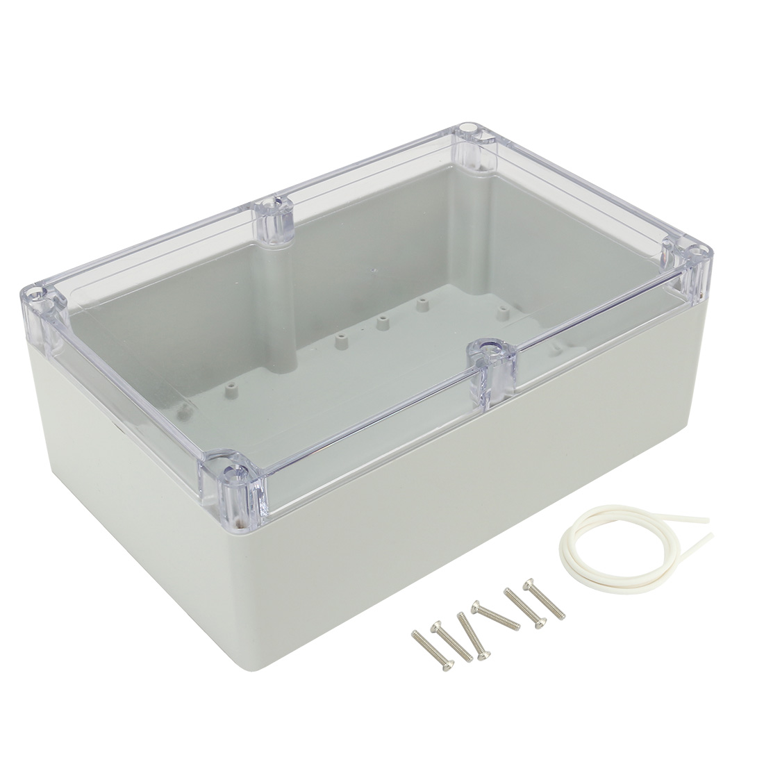 "9""x5.9""x3.34""(230mmx150mmx85mm) ABS Junction Box Electric Project Enclosure Clear"