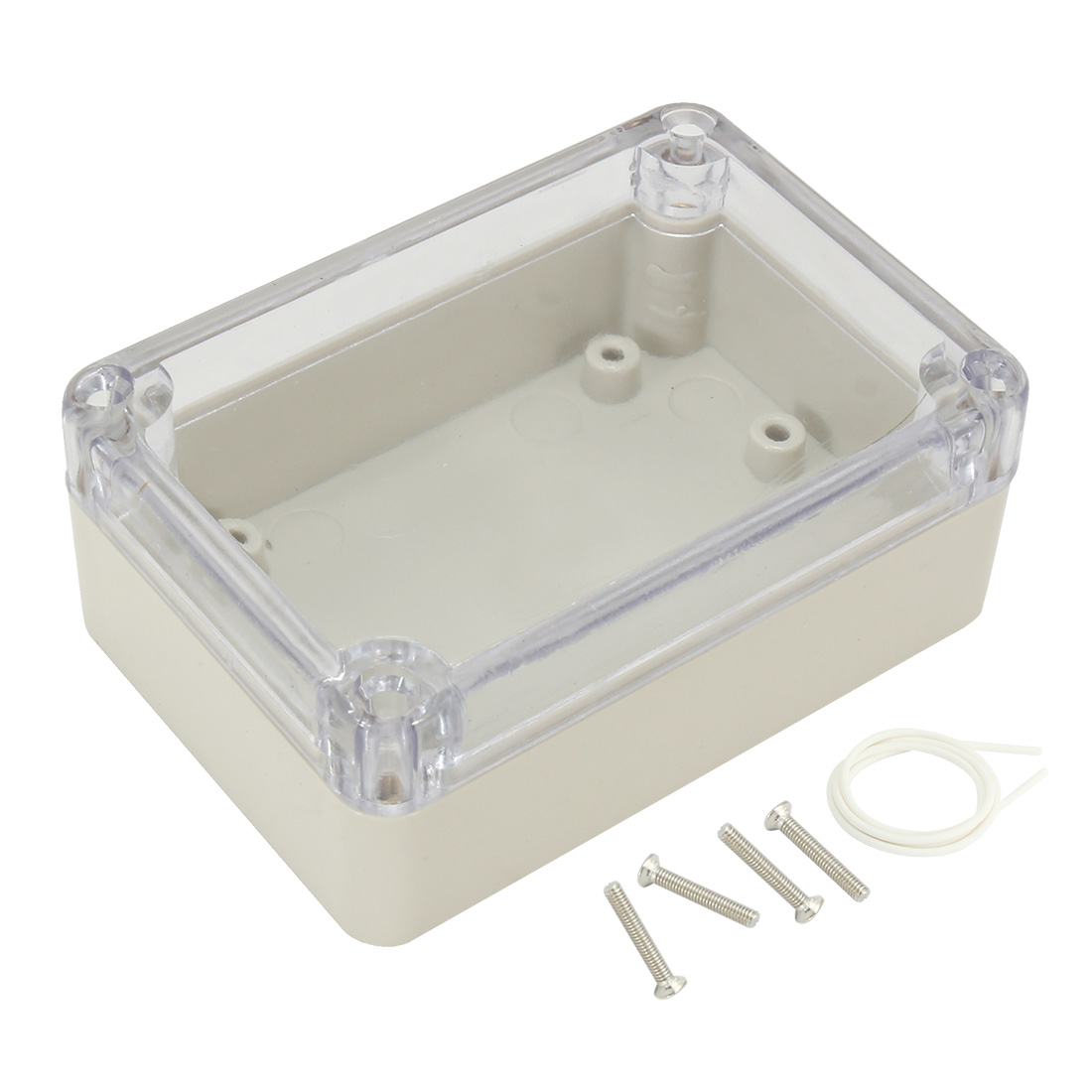 "3.27""x2.28""x1.3""(83mmx58mmx33mm) ABS Junction Box Electric Project Enclosure Clear"