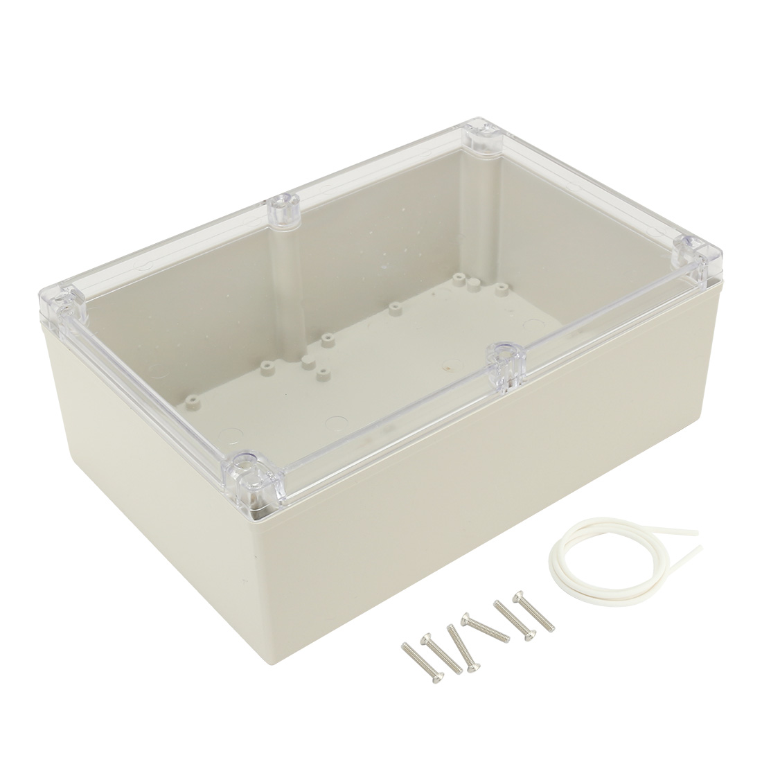 "9.4""x6.3""x3.54""(240mmx160mmx90mm) ABS Junction Box Electric Project Enclosure Clear"