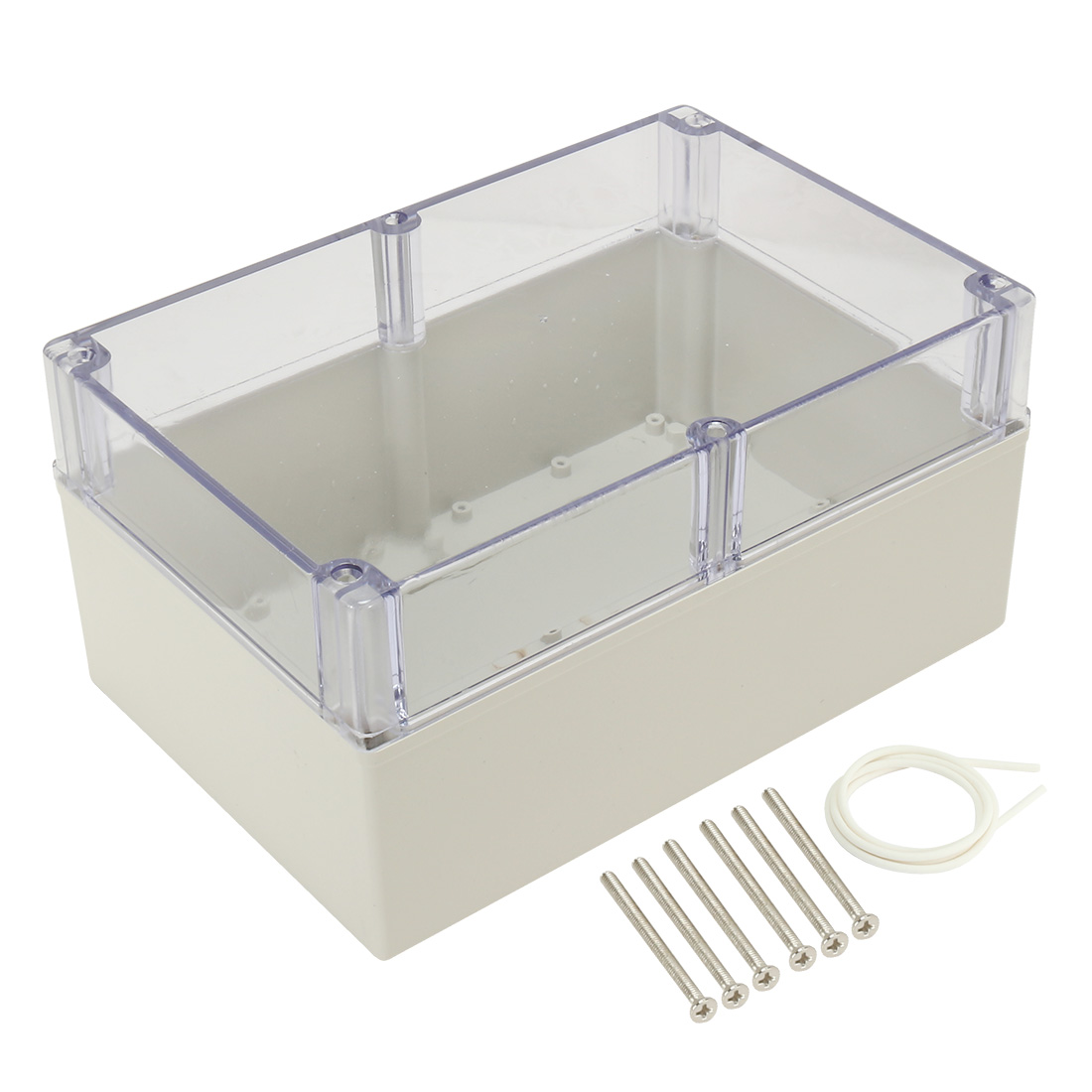 "9.4""x6.3""x4.7""(240mmx160mmx120mm) ABS Junction Box Electric Project Enclosure Clear"