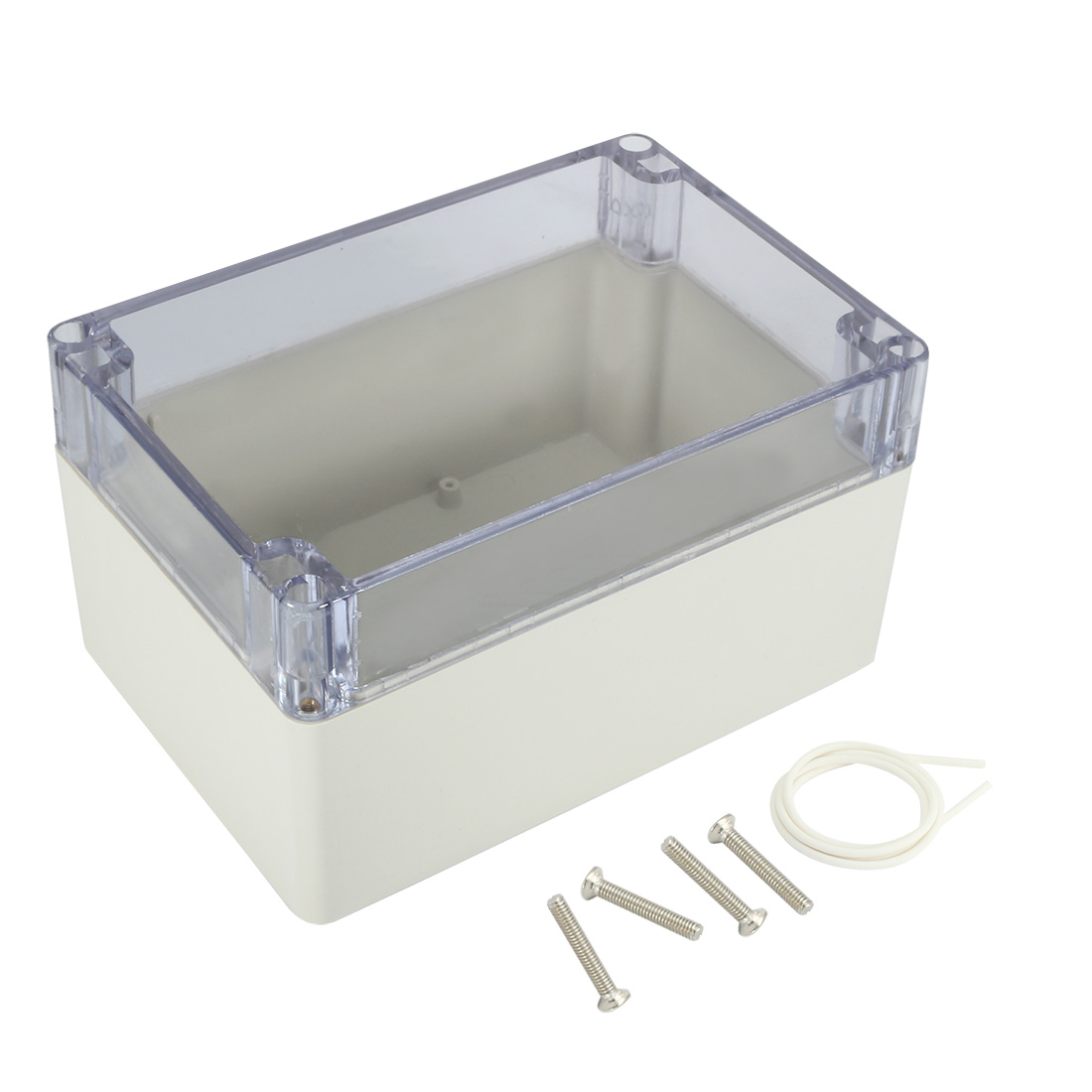 "6.3""x4.3""x3.5""(160mmx110mmx90mm) ABS Junction Box Universal Project Enclosure w PC Transparent Cover"