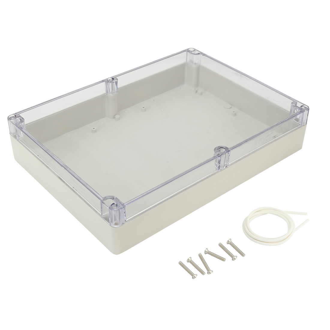 "11.4""x8.3""x2.3""(290mmx210mmx60mm) ABS Junction Box Universal Project Enclosure w PC Transparent Cover"