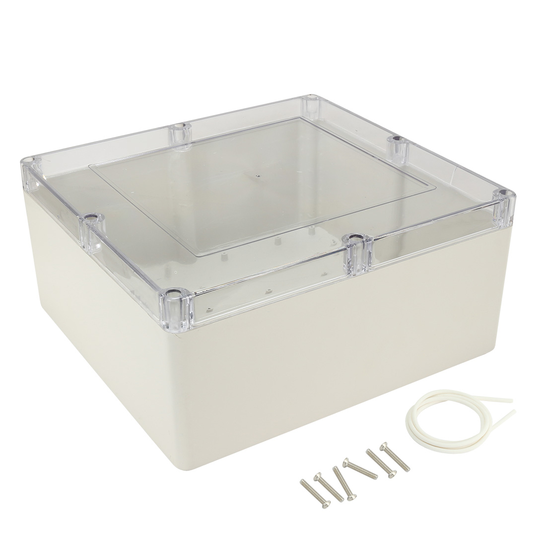 "12""x11""x5.5""(300mmx280mmx140mm) ABS Junction Box Universal Project Enclosure w PC Transparent Cover"