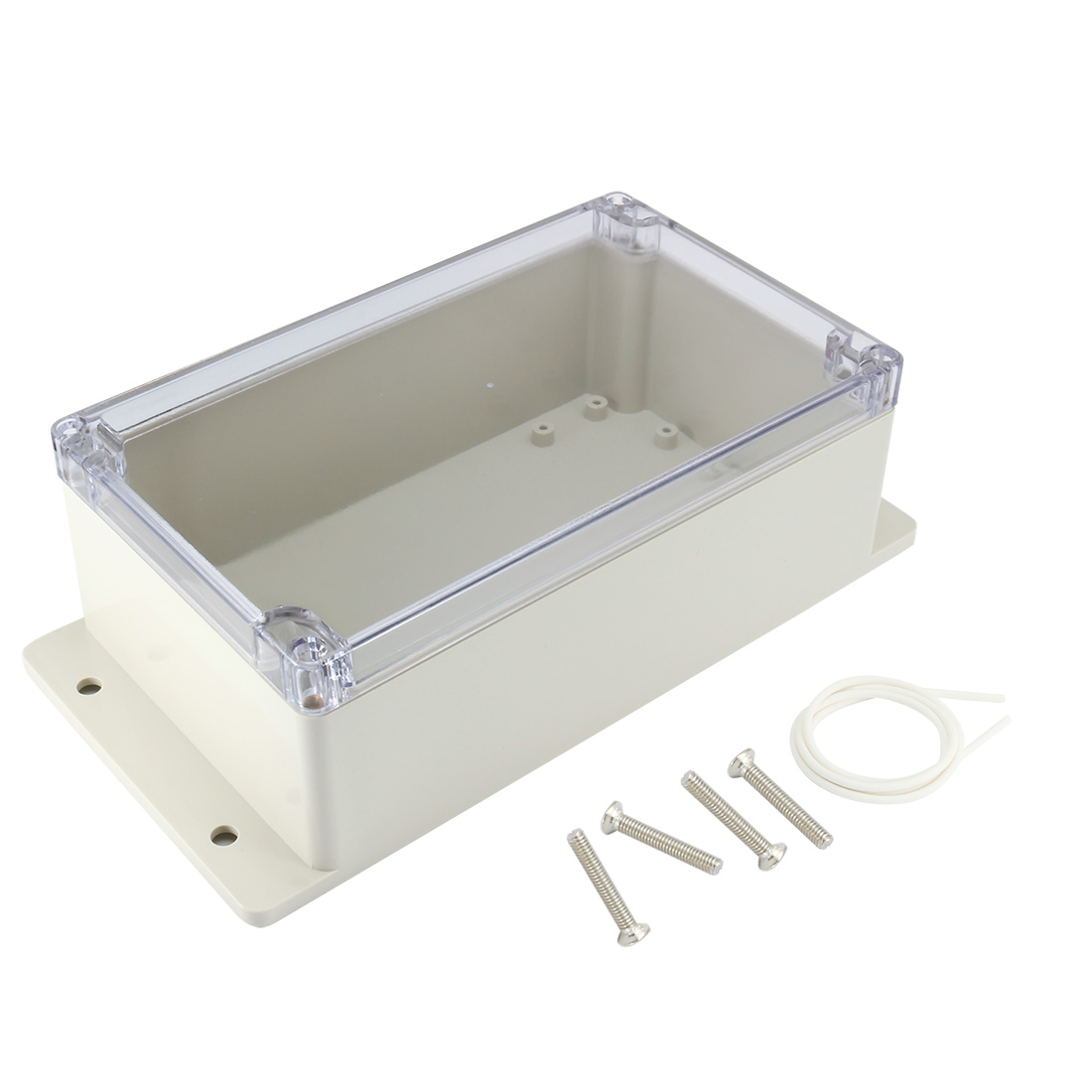 """7.9""""x4.7""""x2.94""""(200mmx120mmx75mm) ABS Junction Box Universal Project Enclosure w PC Transparent Cover"""