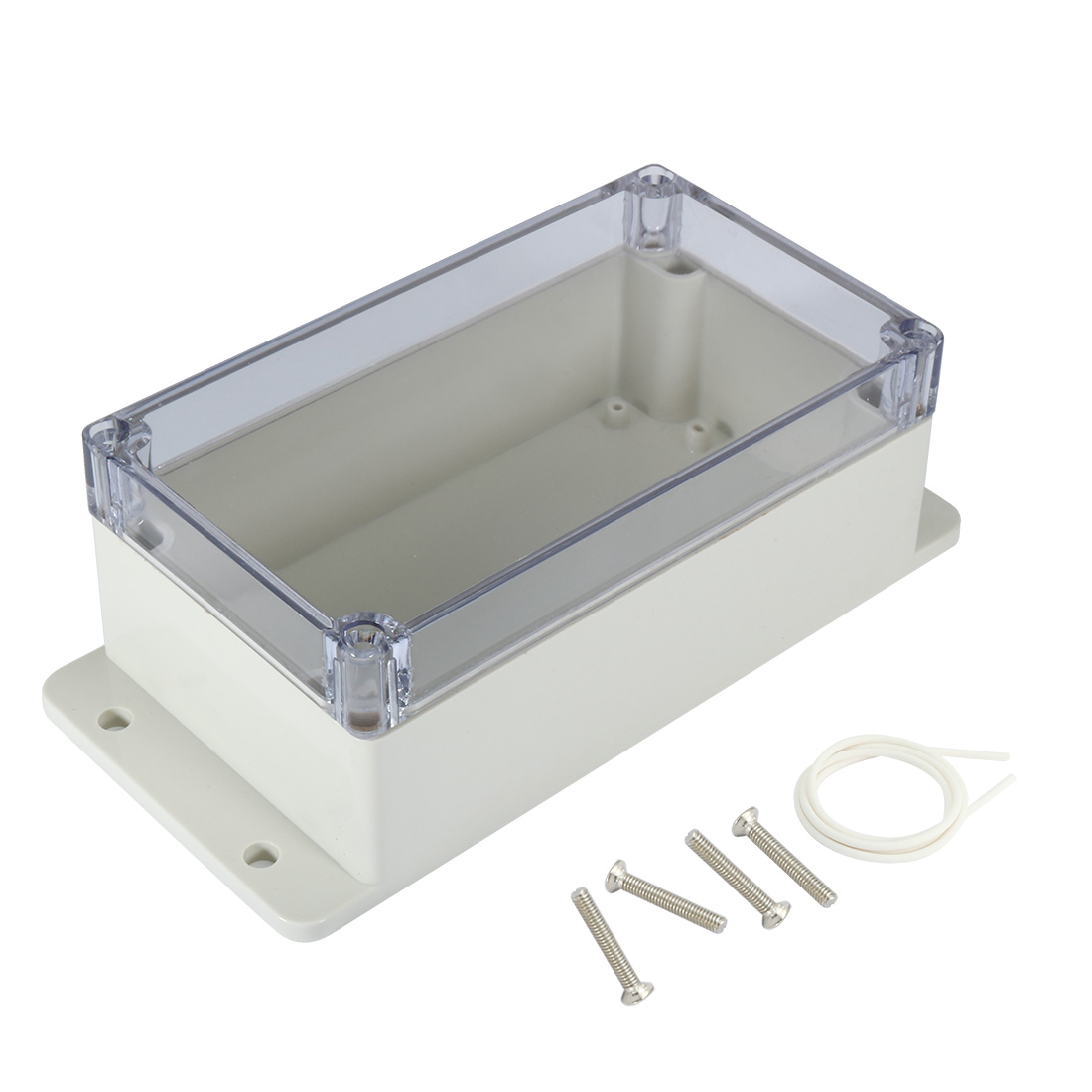 "6.2""x3.5""x2.5""(158mmx90mmx64mm) ABS Junction Box Universal Project Enclosure w PC Transparent Cover"