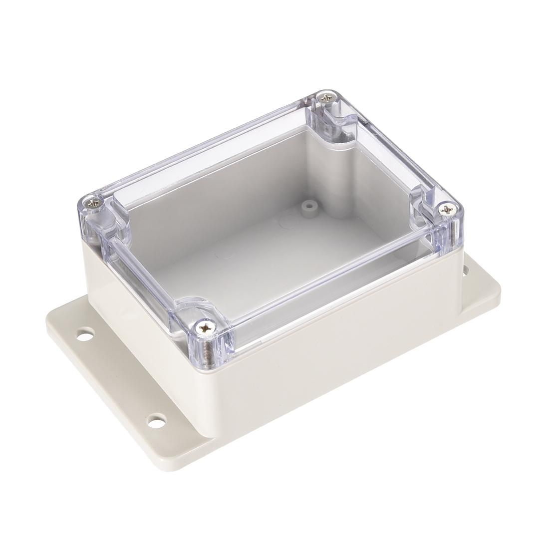 "4.5""x3.5""x2.2""(115mmx90mmx55mm) ABS Junction Box Universal Project Enclosure w PC Transparent Cover"
