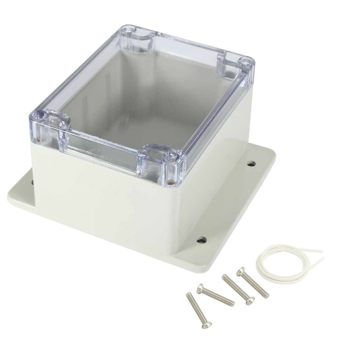 "4.5""x3.5""x2.8""ABS Junction Box Universal Project Enclosure w PC Cover"