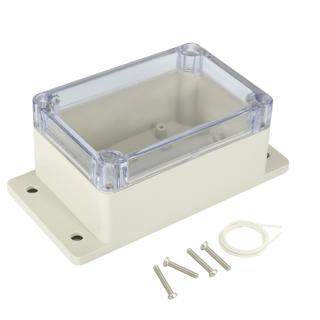 "3.9""x2.7""x2""(100mmx68mmx50mm) ABS Junction Box Universal Project Enclosure w PC Transparent Cover"