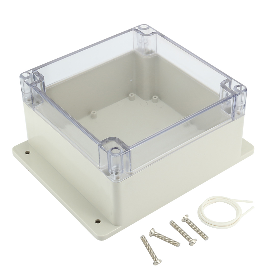 "6.3""x6.3""x3.54""(160mmx160mmx90mm) ABS Junction Box Universal Project Enclosure w PC Transparent Cover"