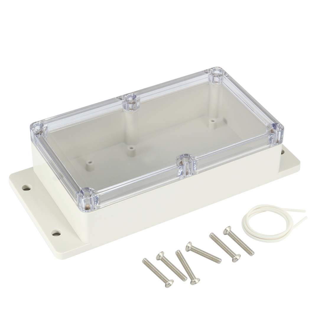 "6.2""x3.5""x1.8""(158mmx90mmx46mm) ABS Junction Box Universal Project Enclosure w PC Transparent Cover"