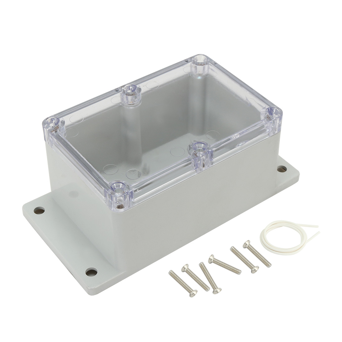 "6.34""x3.23""x2.52""(161mmx82mmx64mm) ABS Junction Box Universal Project Enclosure w PC Transparent Cover"