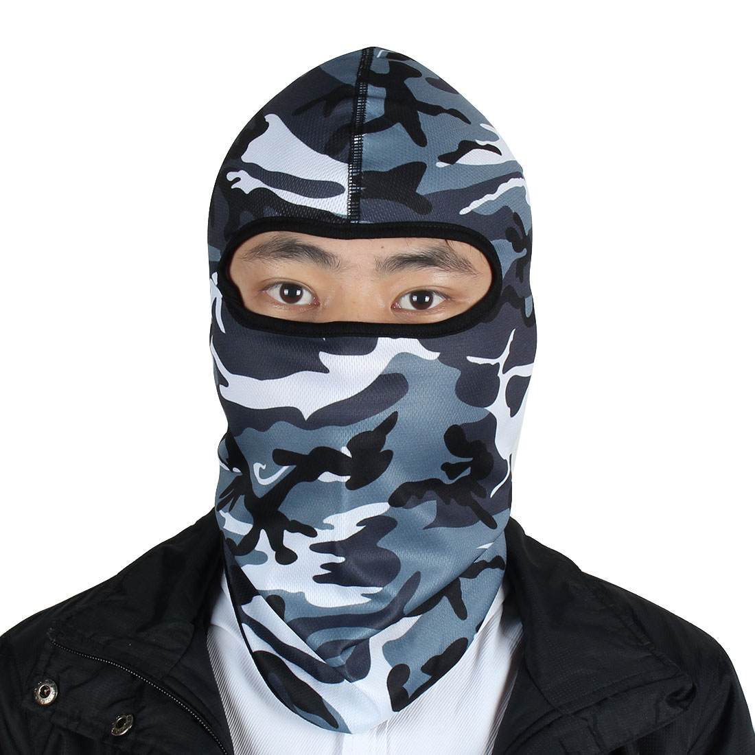 Outdoor Unisex Lycra Camouflage Design Hunting Neck Face Mask Head Cover Balaclava Hood