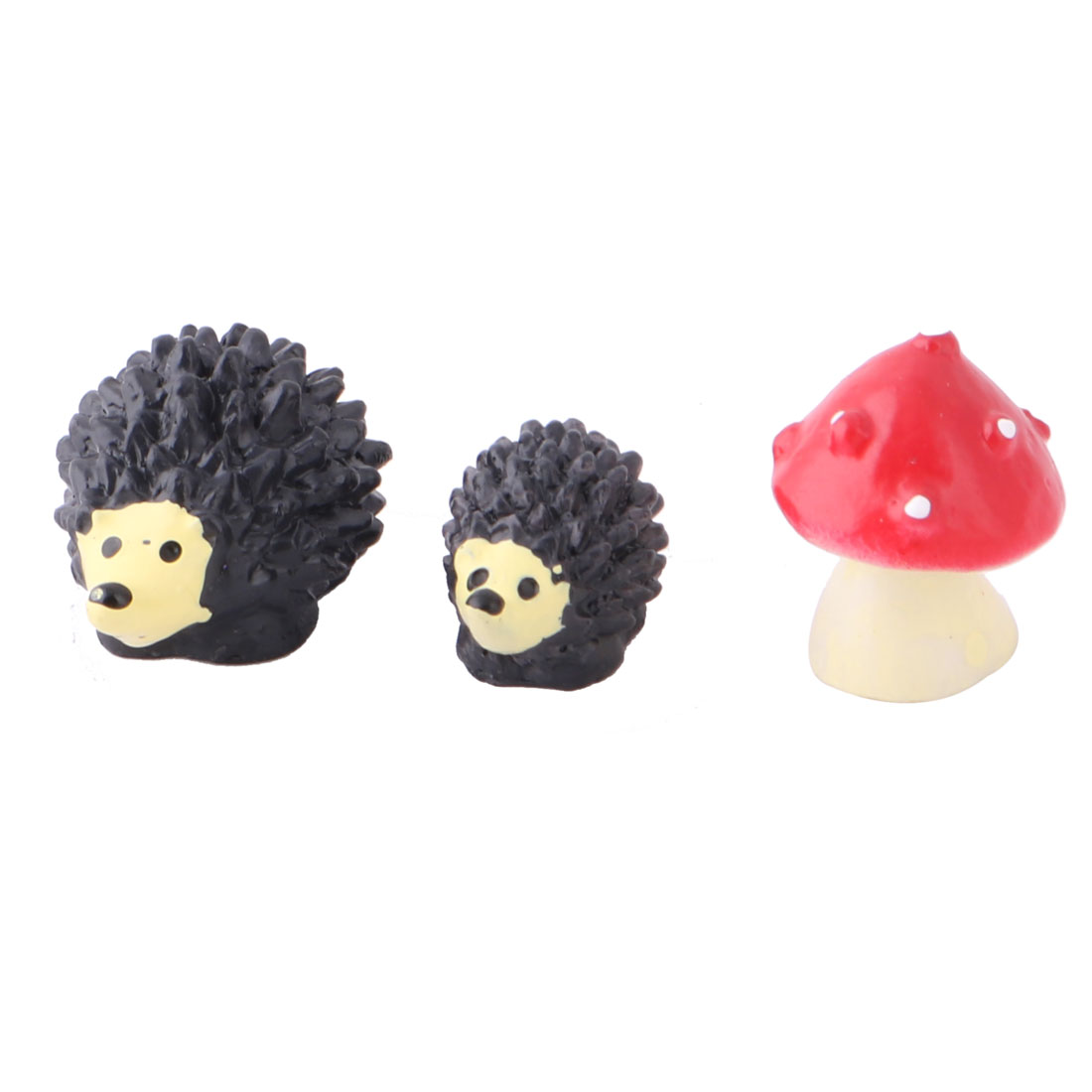 Family Resin Hedgehog Design Desk Table Decor Landscape Assorted Color 3 in 1
