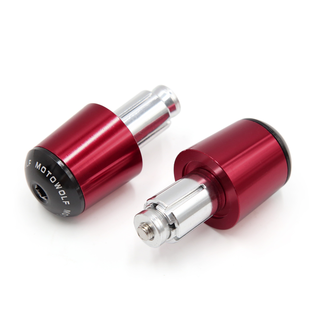 2Pcs Red Aluminum Alloy Handle Bar End Cap Fit for 17mm Motorcycle Handlebar