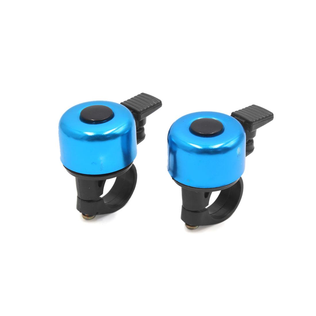 2 Pcs Blue Aluminum Alloy Bicycle Bike Cycling Handlebar Bell Ring Loud Horn