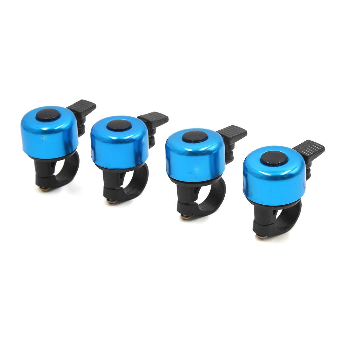 4 Pcs Blue Aluminum Alloy Bicycle Bike Cycling Handlebar Bell Ring Loud Horn