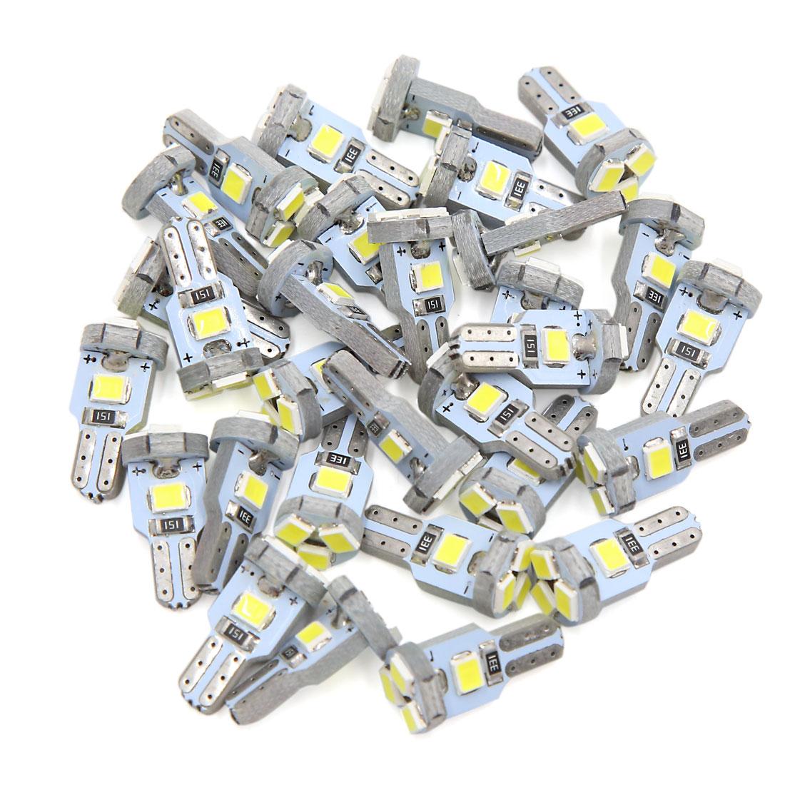30 Pcs T5 5 White LED 1210 SMD Car Interior Dashboard Gauge Light Lamp Bulb