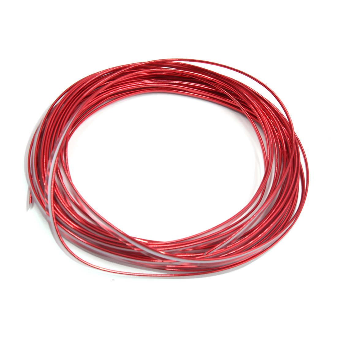 Bright Red Car Interior Exterior Decoration Moulding Trim Strip Line 10M Lenght
