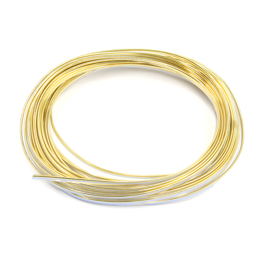 Gold Tone Car Interior Exterior Decoration Moulding Trim Strip Line 10M Lenght