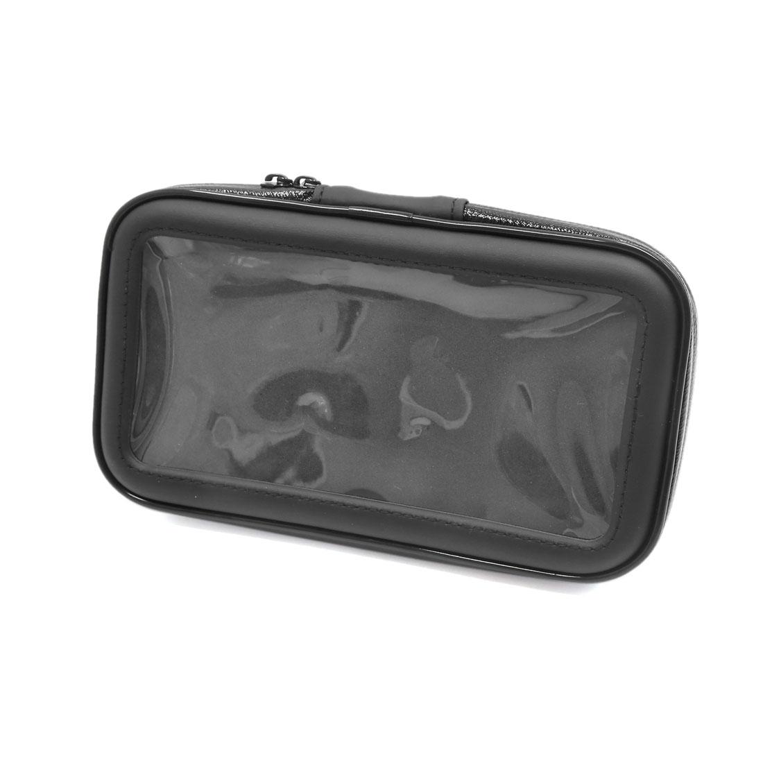 Black Bicycle Handlebar Mount Holder Waterproof Phone Bag Case 183 x 110 x 30mm