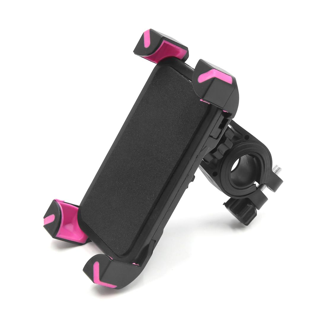 Red 360 Degree Rotation Bicycle Bike Handlebar Phone Mount Holder Cradle