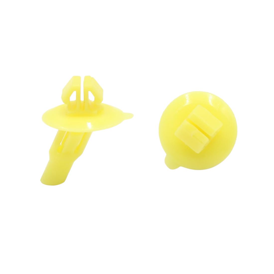 100 Pcs Yellow Universal Car Door Bumper Fender Plastic Rivets Fastener Clip