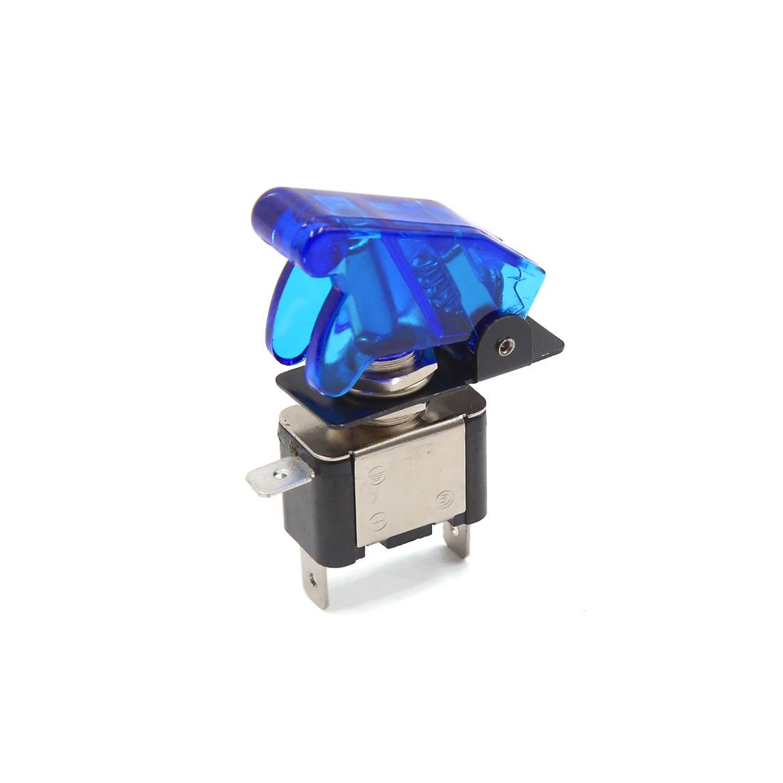 DC 12V 20A Blue LED Light SPST ON/OFF 3 Pin Rocker Toggle Switch for Auto Car Vehicle