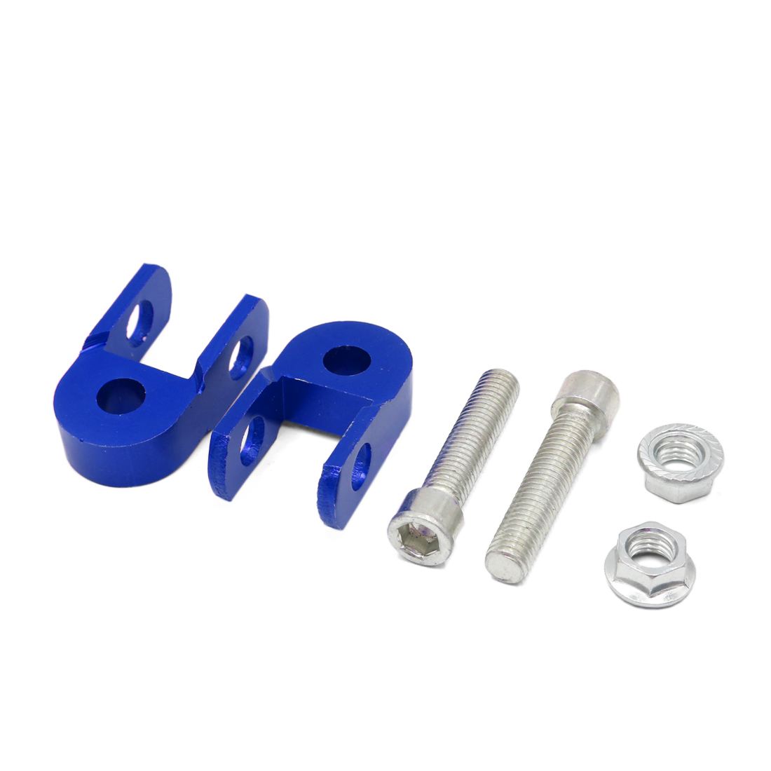 2Pcs Blue Motorcycle Shock Absorber Height Extension Jack Up Riser Suspension