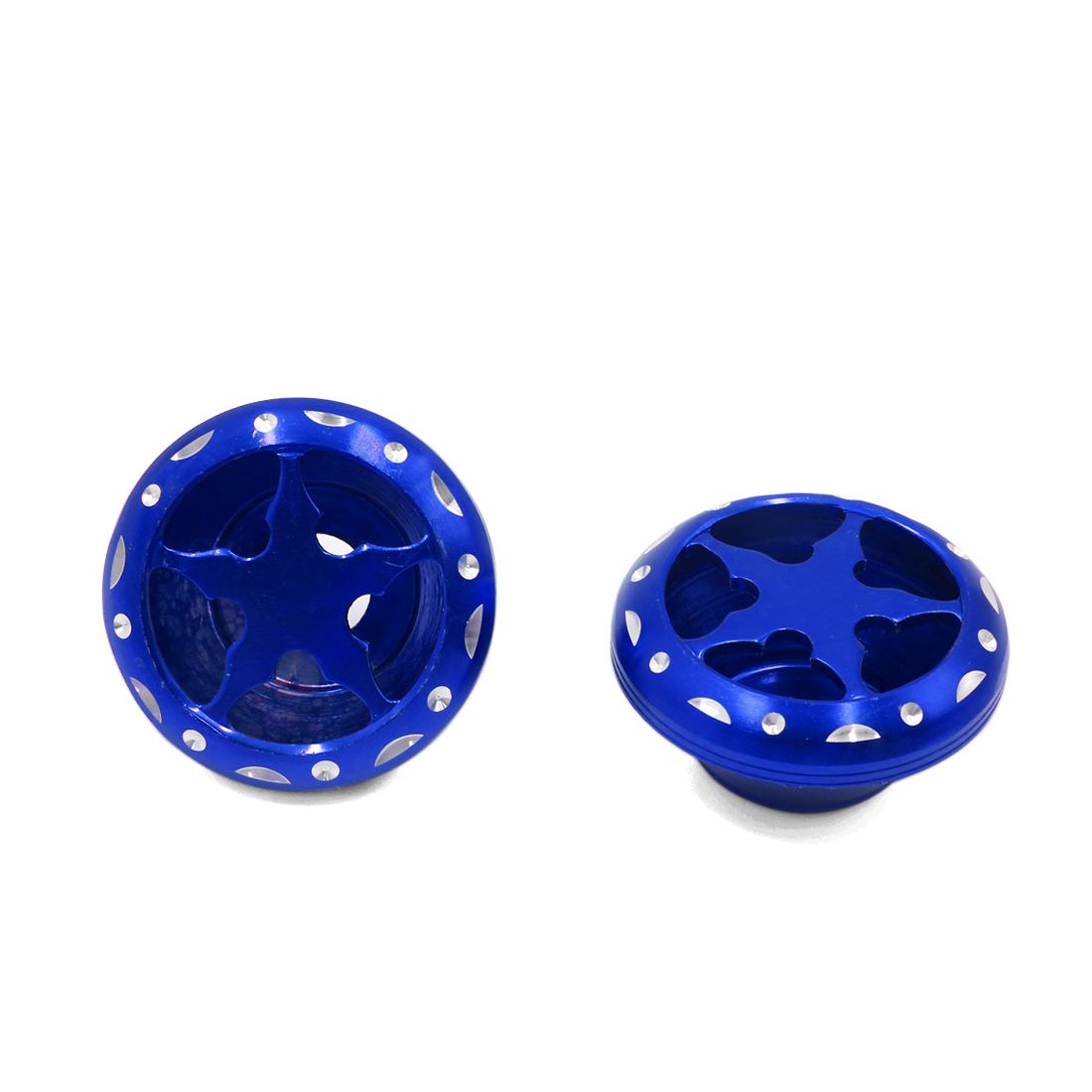 2Pcs Blue Metal Motorcycle Fork Cup Front-wheel Damping Drop Resistance Cups