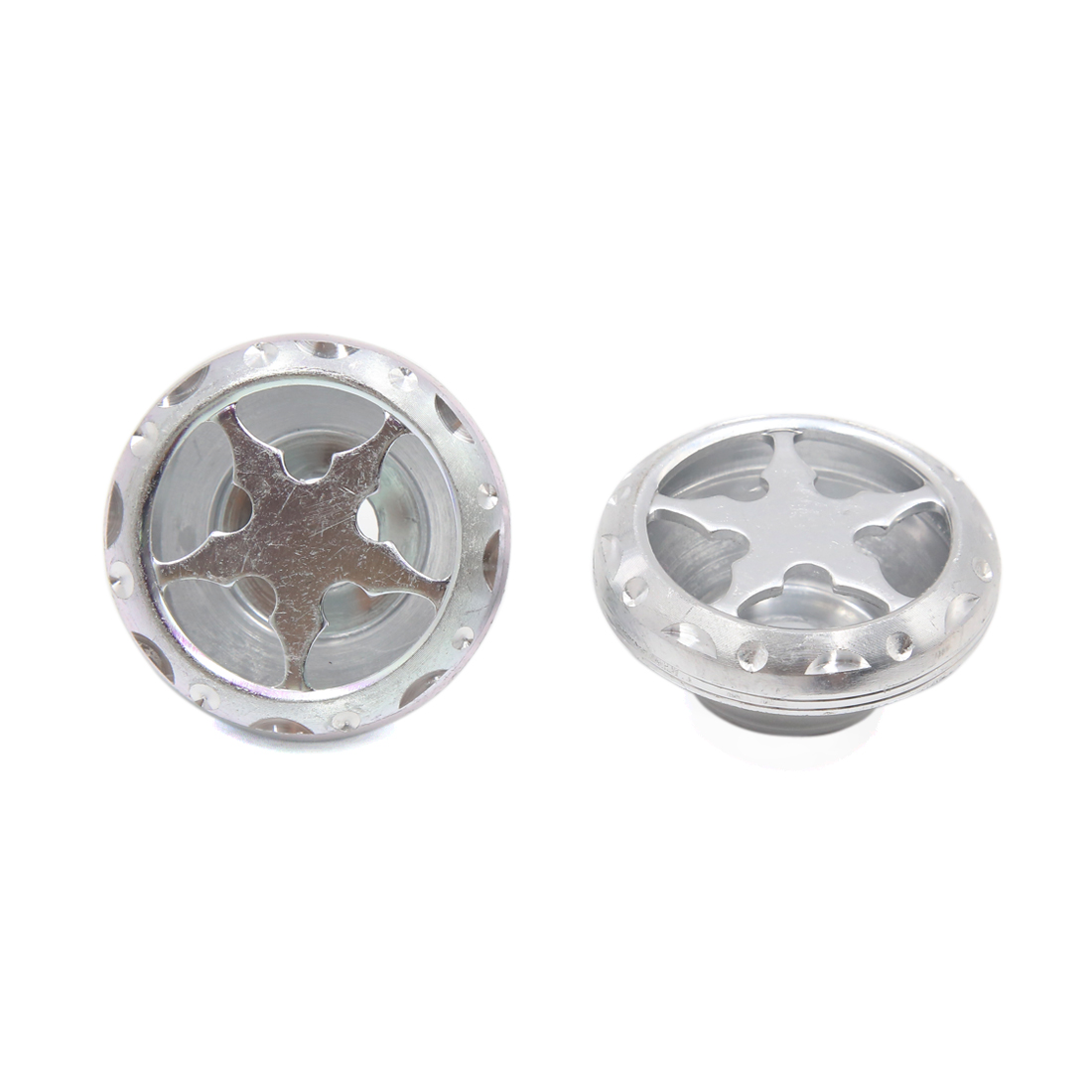 2Pcs Silver Tone Motorcycle Fork Cup Front-wheel Damping Drop Resistance Cups