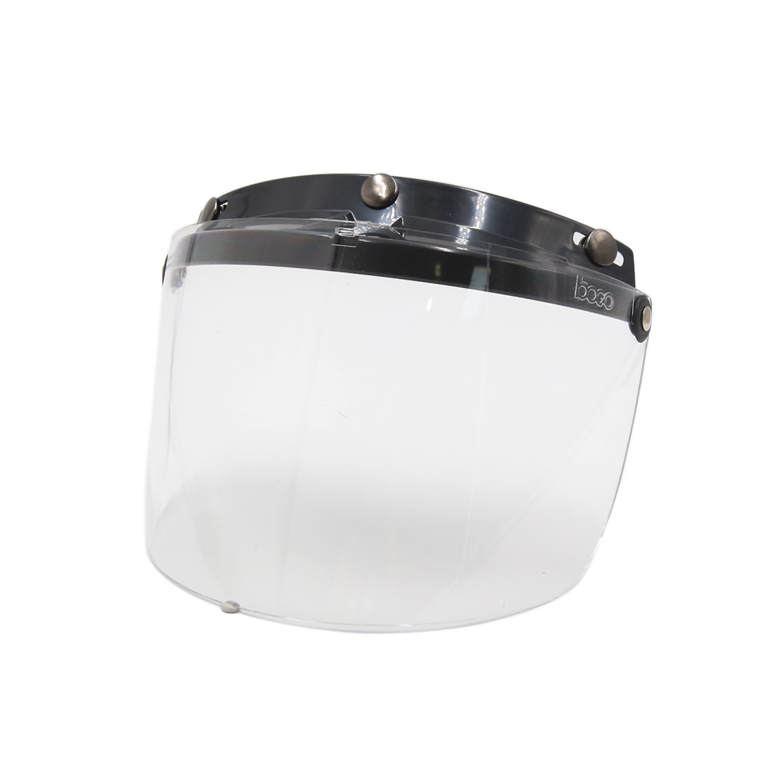 Clear Plastic Motorcycle 3-Snap Half Len Visor Shield Anti-fog Helmet