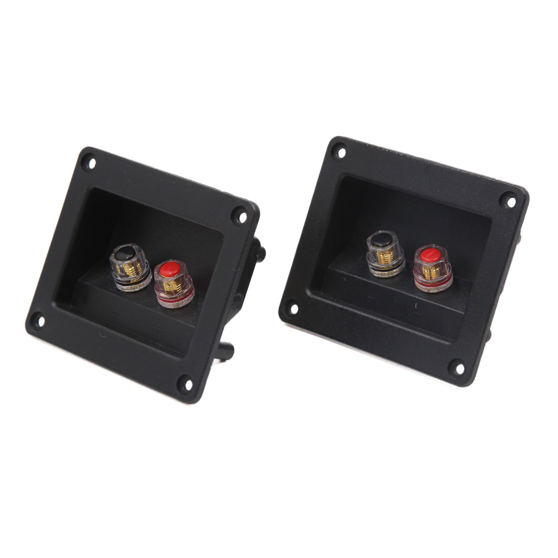 2Pcs Rectangle Car Audio Speaker Spring Binding Post Dual Terminal Connector Board