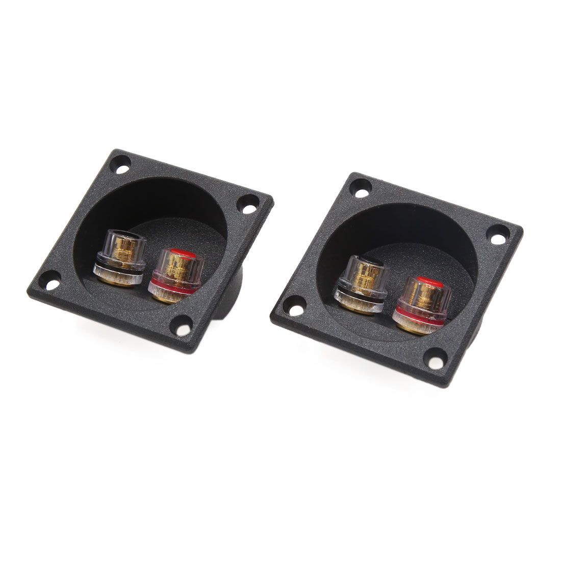 2Pcs Rectangle Car Audio Speaker Spring Binding Post Double Terminal Connector Board