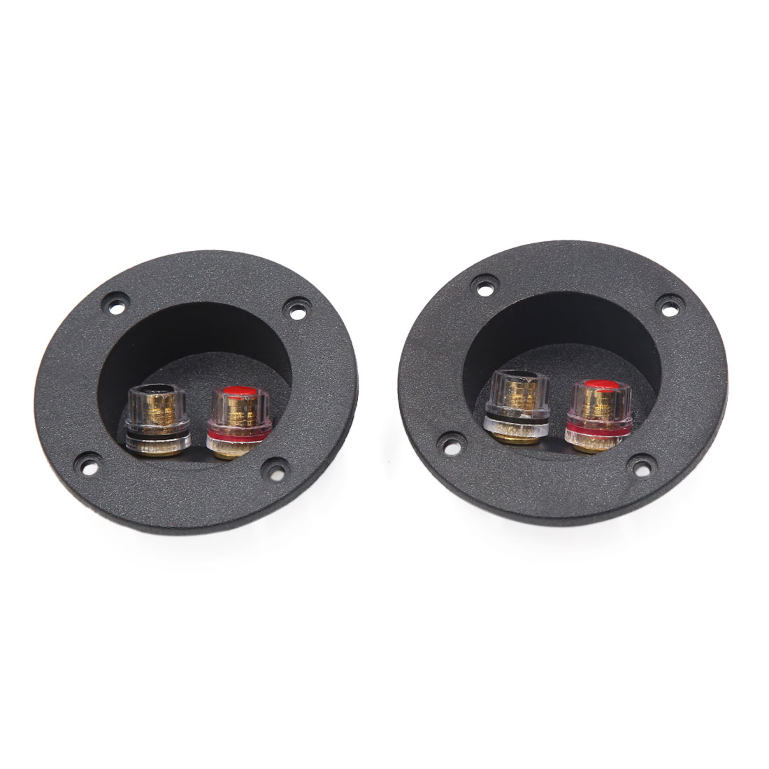 2Pcs Round Shape Car Audio Speaker Spring Binding Post Dual Terminal Connector Board
