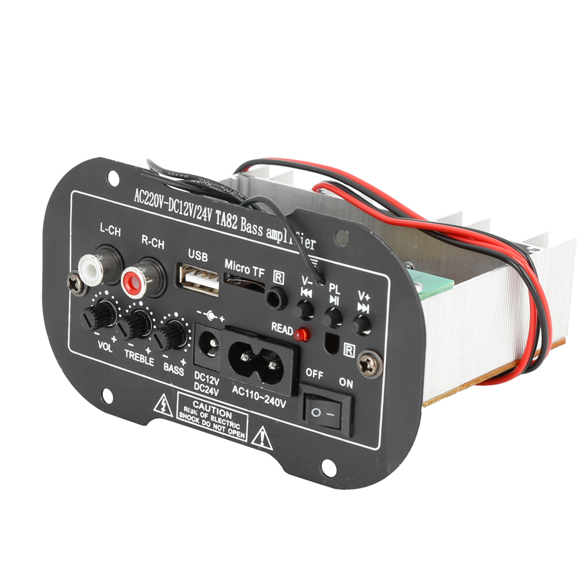 DC 12V 24V 35W Hi-Fi Audio Bass Subwoofer Stereo Power Amplifier Board for Auto Car