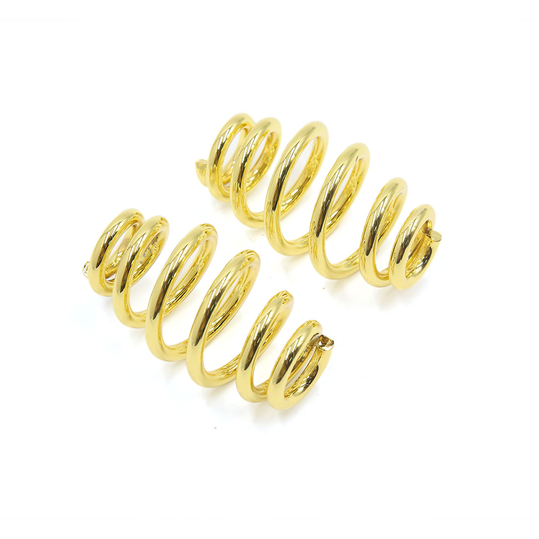 2Pcs Gold Tone Barrel Type Motorcycle Chopper Solo Seat Springs for Harley Davidson