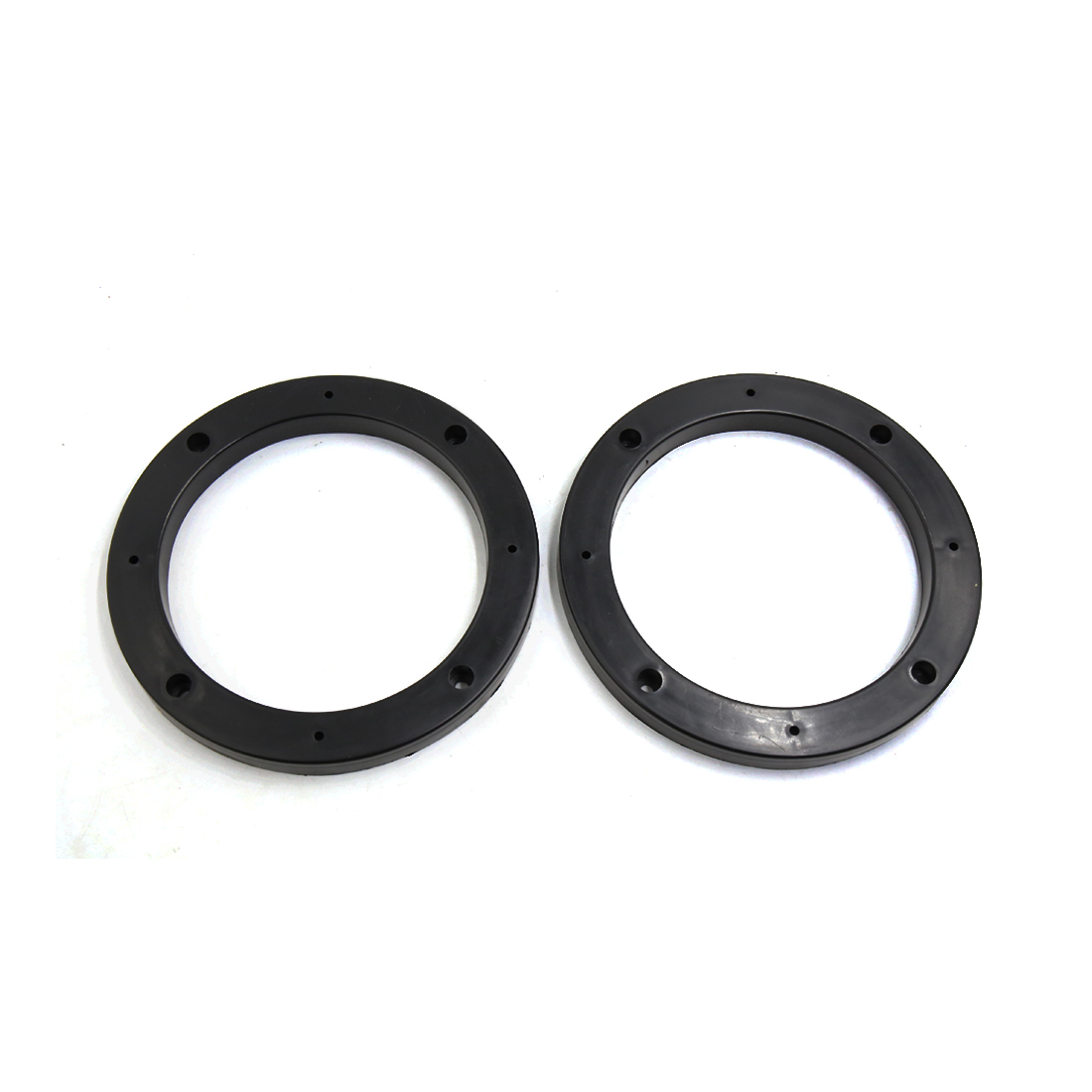 "2Pcs Black Plastic Car Auto Stereo 5"" Speaker Fitting Spacer Adaptor 0.5"" Depth"