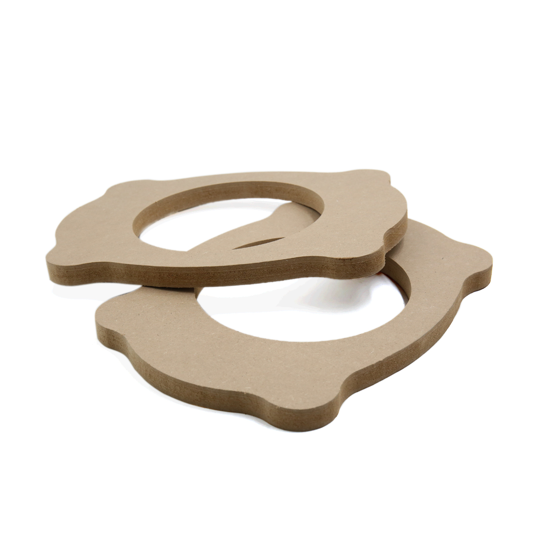 "2Pcs 6.5"" Wooden Car Speaker Spacer Brackets Ring Mounting Adapter Plate"