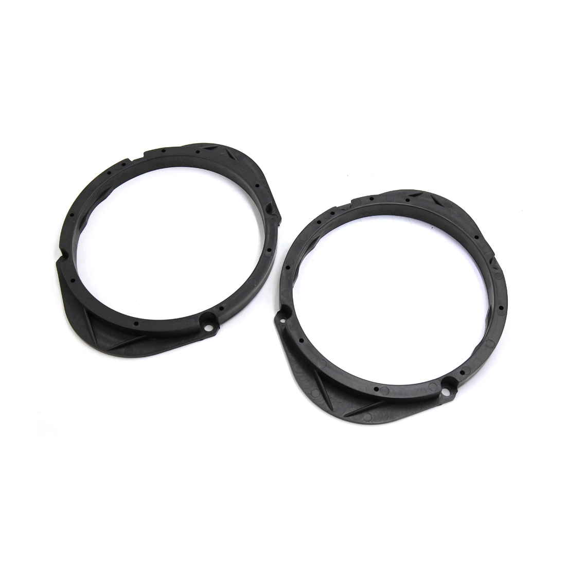 2Pcs Black Plastic Car Stereo Spacer Adaptor Fit for Ford Front Door Speakers