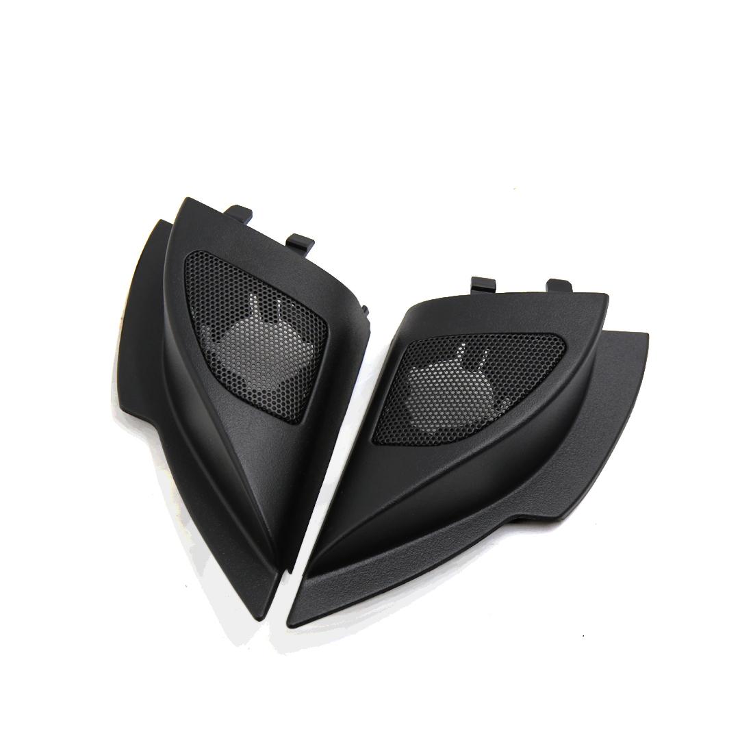 2 Pcs Mesh Black Car Tweeter Trumpet Dustproof Cover for 2011 Mitsubishi Lancer
