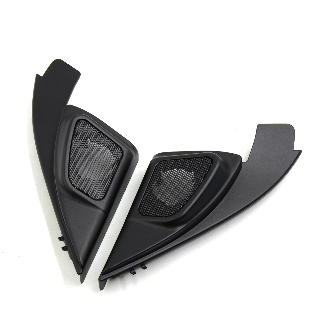 2 Pcs Black Car Mesh Tweeter Trumpet Dustproof Cover for 2013 Buick Excelle