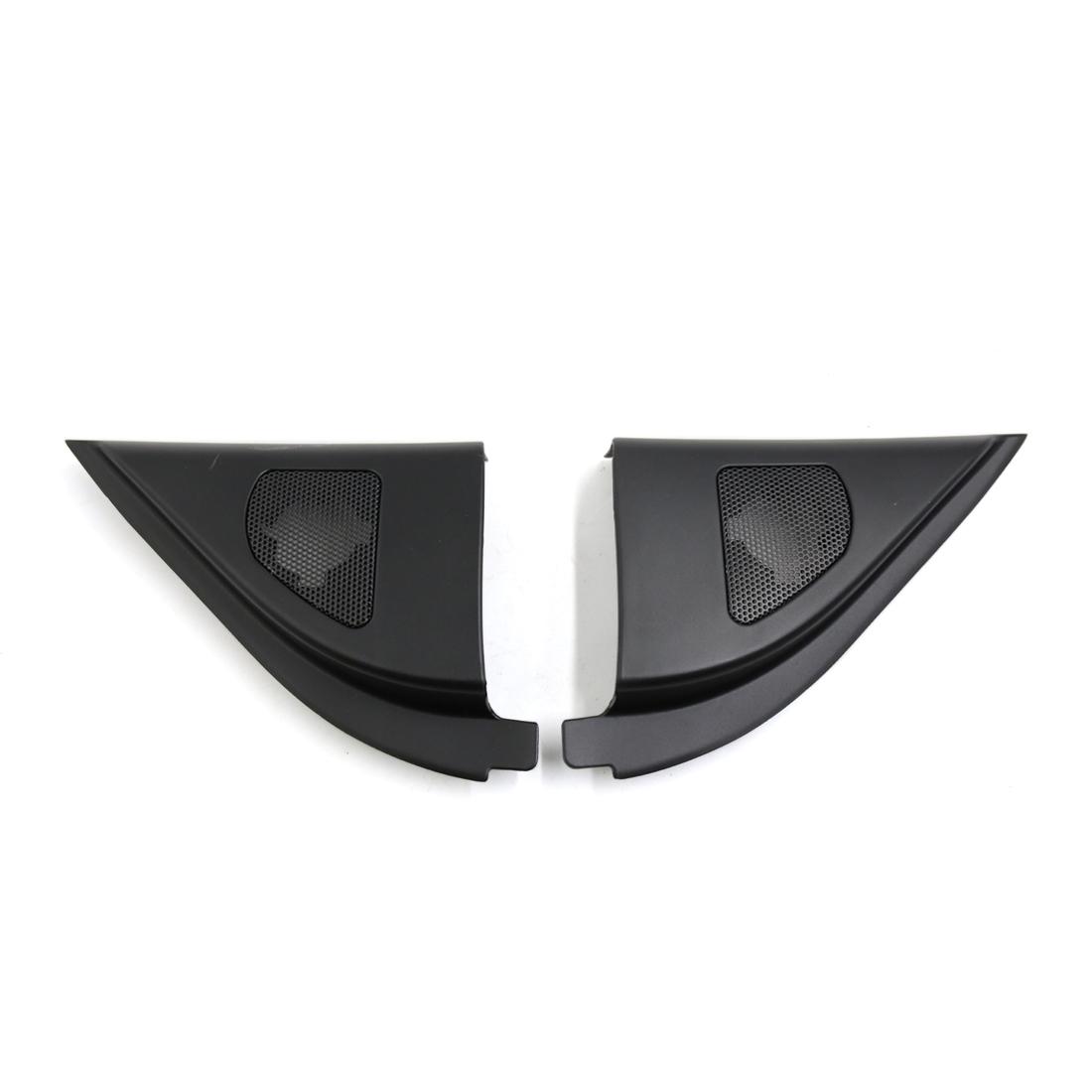2 Pcs 6.5 x 5cm Mesh Black Car Tweeter Trumpet Dustproof Cover for Kia Forte