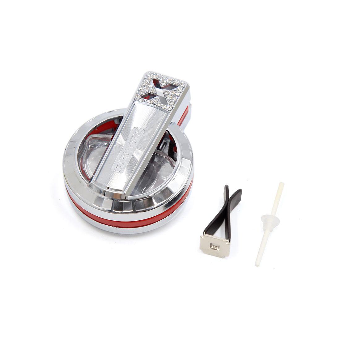 Universal Silver Tone Car Air Vent Perfume Bottle Fragrance Diffuser Freshener Base