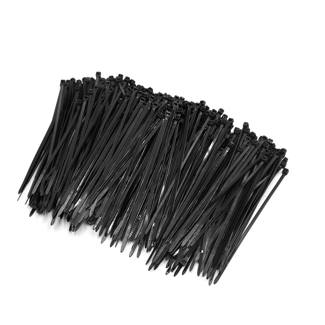 500pcs Black 4mm x 150mm Nylon Fasten Self Locking Cable Wire Tie for Car Vehicle