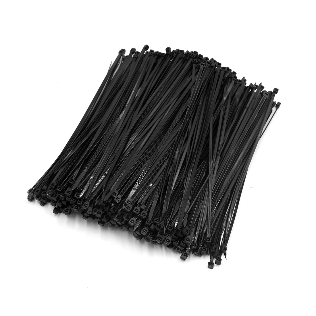 500pcs Black 4mm x 200mm Nylon Fasten Self Locking Cable Wire Tie for Car Vehicle