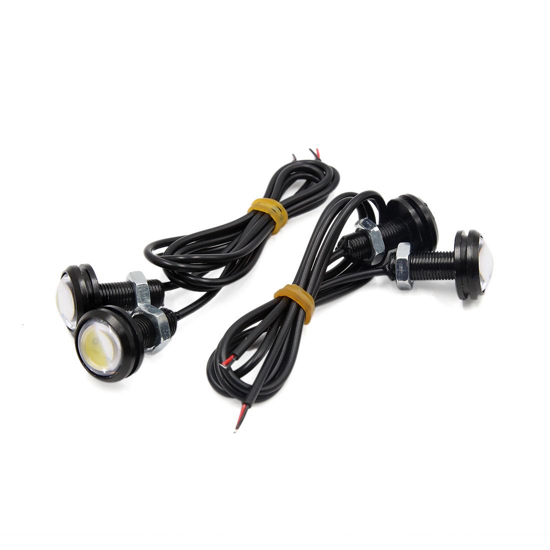 4pcs 21mm Dia White COB LED Eagle Eye DRL Backup Signal Lamp Light Bulb for Car