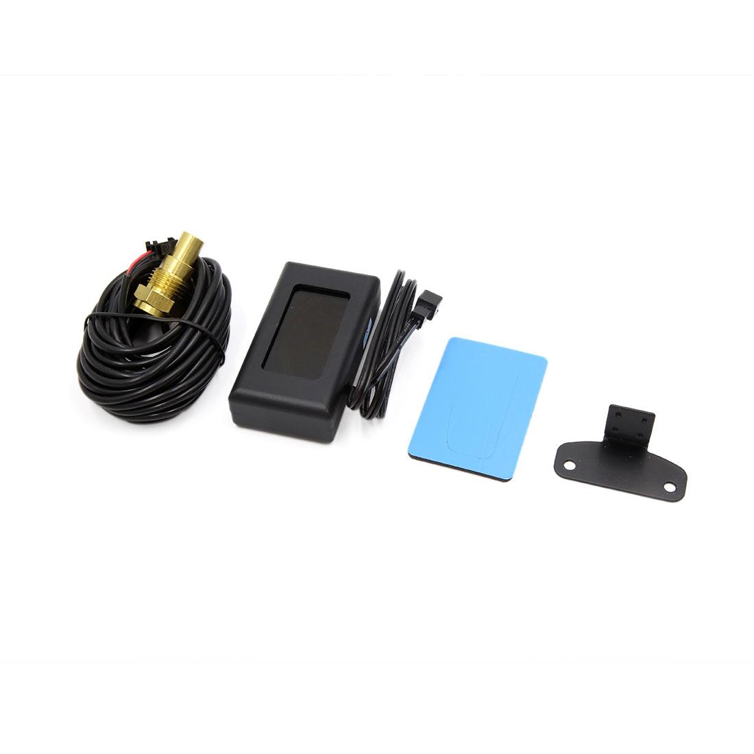 -10~110 Celsius Degree LCD Water Temp Gauge Digital Voltmeter for Car Motorcycle